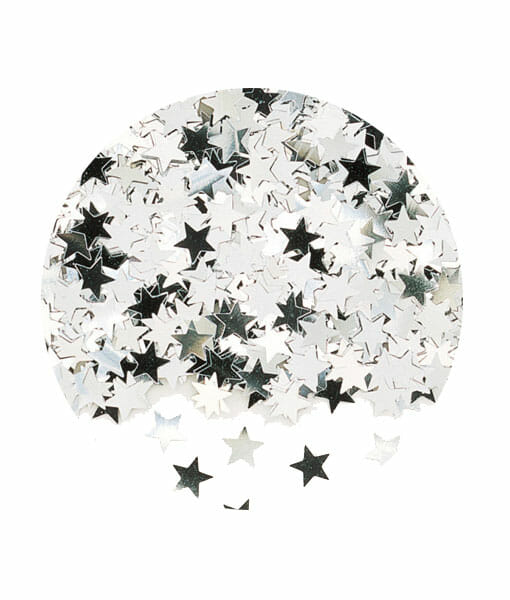 Confetti stelute argintii